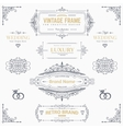 design collection vintage patterns vector image vector image