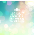 easter background bokeh blue vector image vector image
