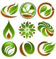 Eco Logo Icons vector image vector image