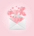 envelope with heart symbol love and feelings vector image vector image