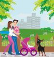 family walk vector image vector image