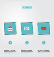 flat icons buy now sign payment and other vector image vector image