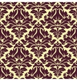 Floral seamless beige and purple damask pattern vector image vector image