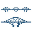 forth bridge set of blue silhouette isolated on vector image vector image