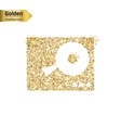 Gold glitter icon of DJ mixer table vector image vector image