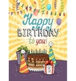 Happy Birthday greeting card or invitation vector image vector image