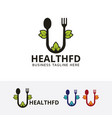 health food logo design vector image vector image