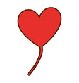 heart love balloon air vector image