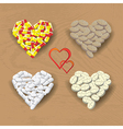 Hearts from pills vector image
