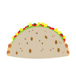 isolated taco vector image