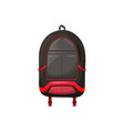 kids schoolbag isolated icon cartoon rucksack vector image vector image