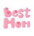 Lettering Best Mom cartoon icon vector image vector image