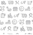 line style icons seamless pattern delivery vector image