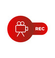 live isolated logo on air recording or vector image