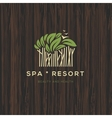 Logotype for spa resort or beauty business vector image vector image