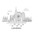 london skyline line art 3 vector image vector image