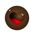 Love Heart Melt Chocolate Circle Design vector image vector image