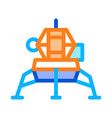 manned spacecraft icon outline vector image
