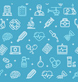 medicine symbols and signs pattern background vector image vector image