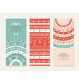Merry christmas new year holiday doodle banner set vector image vector image
