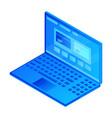 modern web laptop icon isometric style vector image