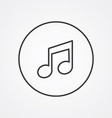 music outline symbol dark on white background logo vector image vector image