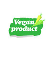 natural organic healthy vegan product logo fresh vector image