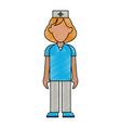 nurse woman cartoon vector image vector image