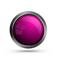 pink glass button isolated on white background vector image