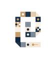 pixel art ampersand mark colorful symbol consist vector image vector image