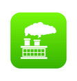 plant pipe with smoke icon digital green vector image