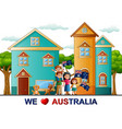 poster of happy family celebration a australia day vector image vector image