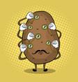 potato and monoculars pop art vector image vector image