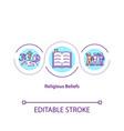 religious beliefs concept icon vector image