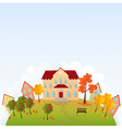 School time town vector image vector image