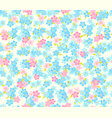 seamless flower colour pattern floral background vector image vector image