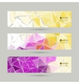 Set of banners with triangles and polygon mesh vector image vector image