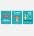 set of mexico country ornament travel tour concept vector image vector image