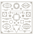 set vintage ornament design elements vector image vector image