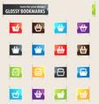 shopping bascket icons set vector image vector image