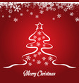 sketched christmas tree design vector image vector image