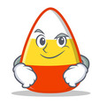 smirking candy corn character cartoon vector image vector image