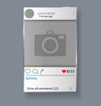 social network post and photo frame vector image