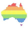 spectrum dot lgbt australia map vector image