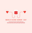 style background for blood donor day vector image vector image