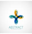 Symmetric abstract geometric shape vector image vector image