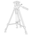 tripod for camera and camcorder vector image