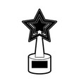 trophy star shape icon image vector image vector image