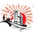 urban grunge city vector image vector image
