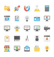 web design flat icons vector image